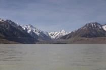 Tasman Lake mit Tasman Gletscher im Hintergrund
