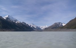 Panorama-Ansicht vom Lake Tasman