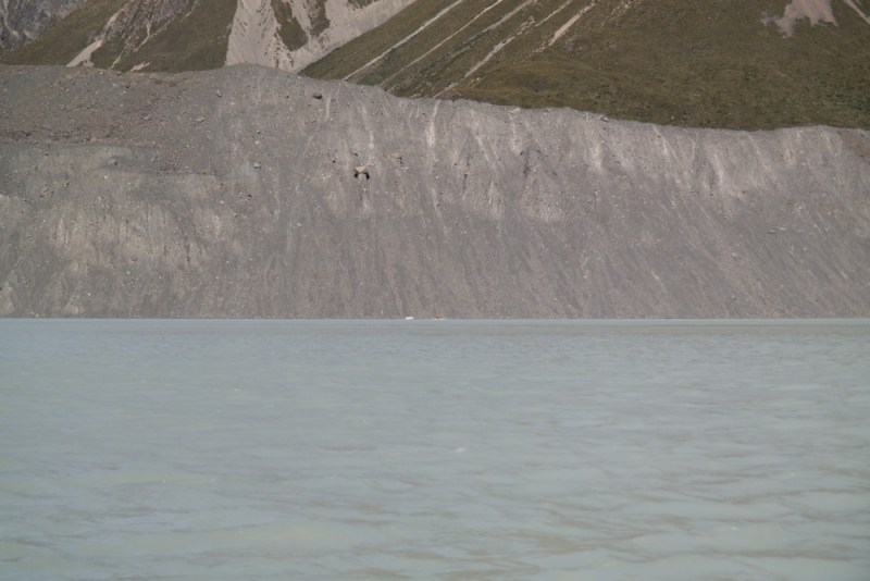 Steile Hänge am Tasman Lake