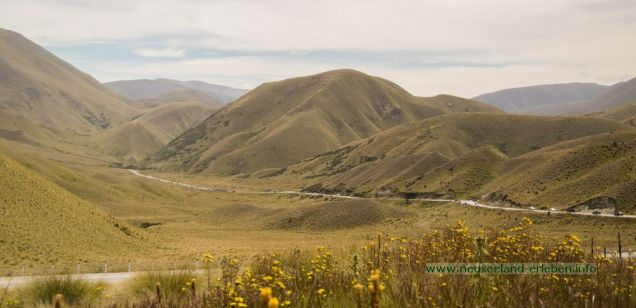 Ausblick vom Lindis Pass