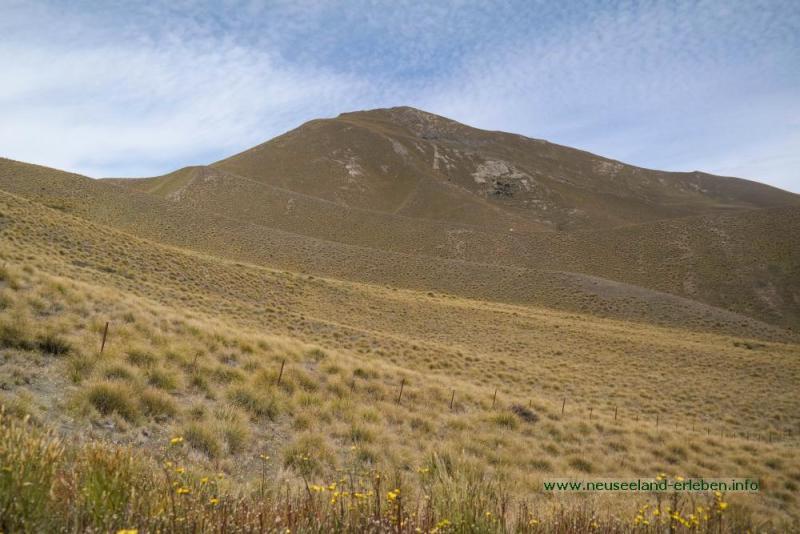 Berglandschaft am Lindis Pass