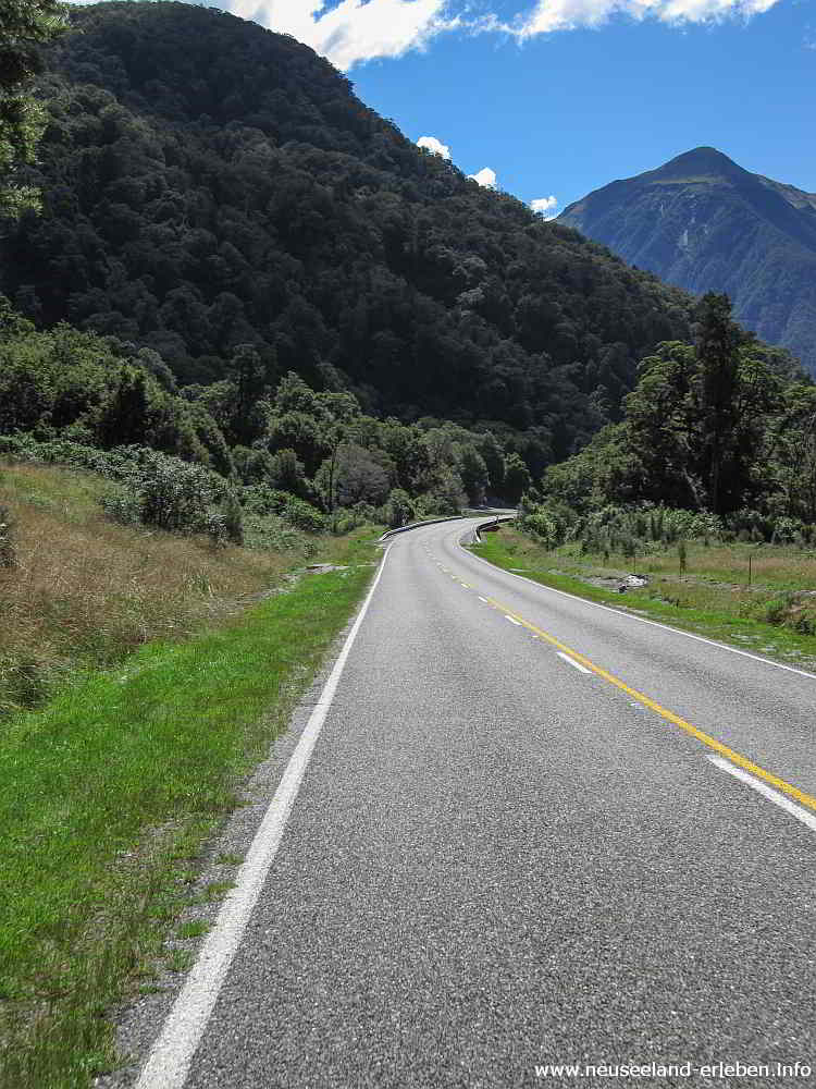 State Highway 6 - Haast Pass - Richtung Westen