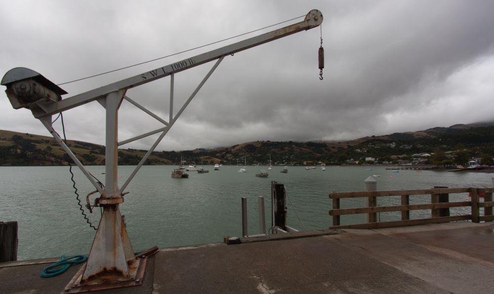 Stilleben auf dem Akaroa Pier
