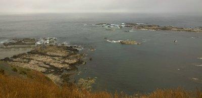 Ausblick auf das Meer und die Felsen um Kaikoura
