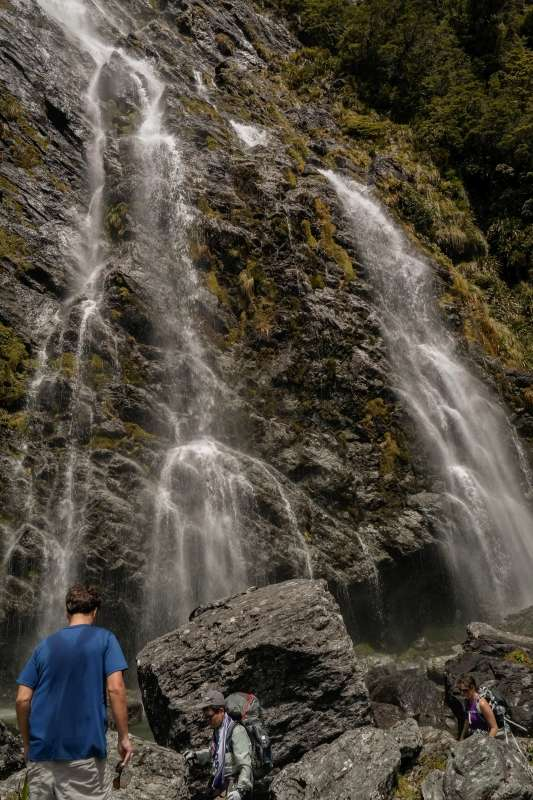 Earland Falls am Routeburn Track auf Neuseeland