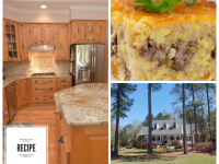 RECIPE:  SOUTHERN GRITS CASSEROLE IN THIS GORGEOUS GOURMET KITCHEN