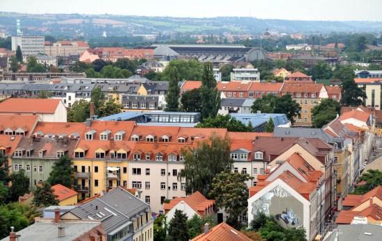 Blick von der Martin-Luther-Kirche Richtung Altstadt