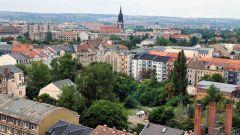 Blick von der Martin-Luther-Kirche Richtung Dreikönigskirche