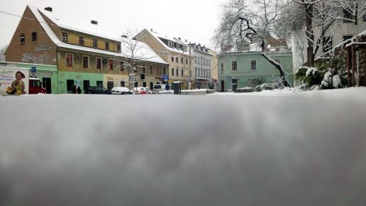 """Tiefschnee an der """"Bunten Ecke"""""""