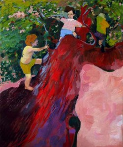Danny Linwerk, »Ahab«, 2010–2011, Öl auf Leinwand