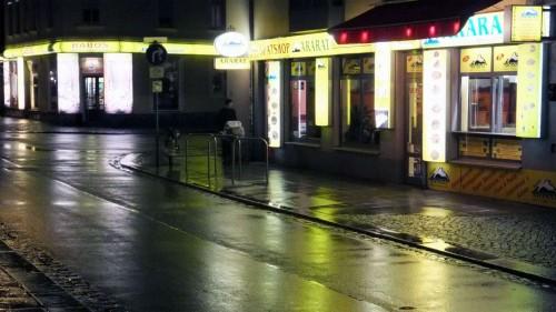 Alaunstraße ohne Besucher
