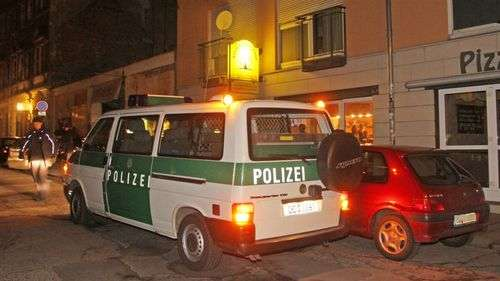 Polizeieinsatz auf der Louisenstraße, Foto: Brennpunktfoto