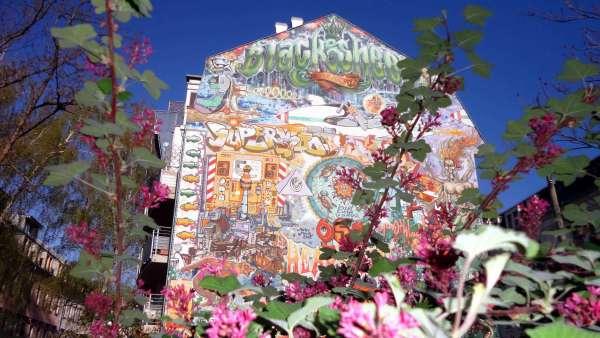 Haus unter blauem Himmel an der Förstereistraße