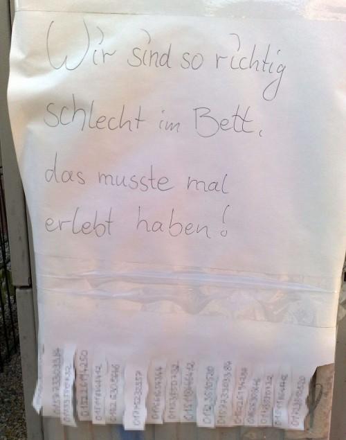 Gesehen auf der Görlitzer Straße ... Danke an Frank für das Foto.