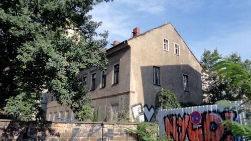 Baubeginn an der Lößnitzstraße 6