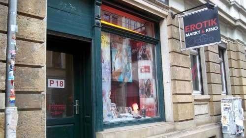 der Erotikmarkt auf der Louisenstraße