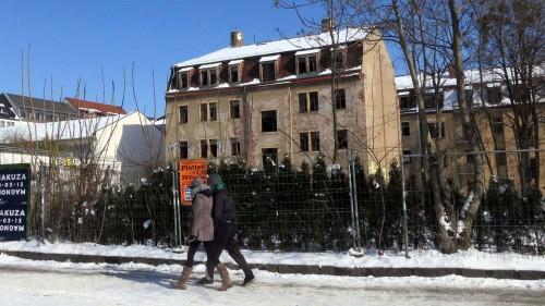 Königsbrücker Straße 26: Die Hinterhäuser werden saniert, davor kommt ein Neubau mit der Bibliothek.