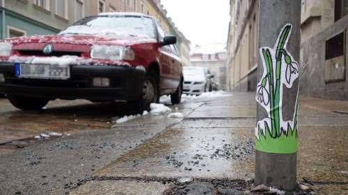 Wenn's der Frühling nicht schafft, wird der Neustädter kreativ.