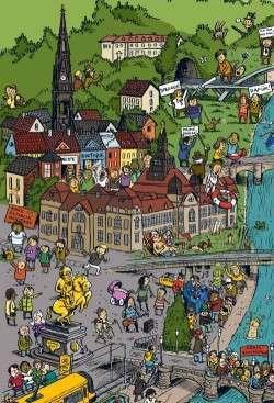 Wimmelbild-Ausschnitt Dresden Neustadt