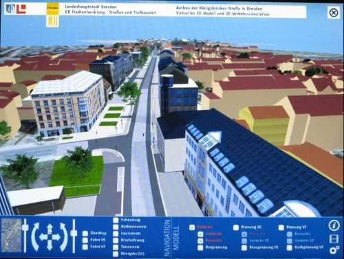 Königsbrücker Straße im Berufsverkehr