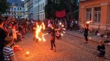 Feuershows wie hier zur BRN 2013 sind dann in der Innenstadt dann nicht mehr möglich.