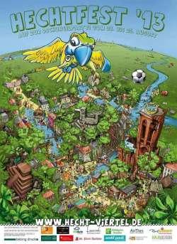 Hechtfestplakat, gezeichnet von Gunter Bähr