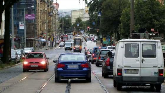 Königsbrücker Straße zur Mittagszeit