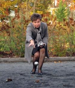 Helma Orosz im Oktober 2013 auf dem neuen Stück des Alaunplatzes