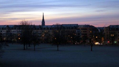 Alaunplatz am Morgen