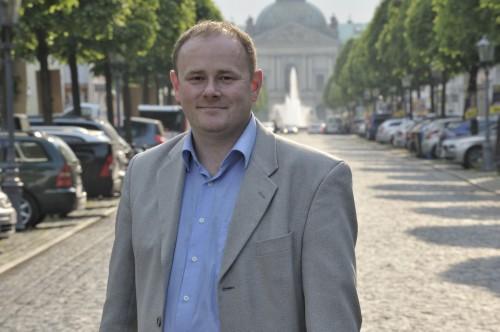 Die Königsstraße im Rücken: Gunter Thiele