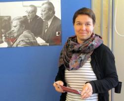 Karin Pritzel in bester Gesellschaft: Schmidt, Wehner, Brandt
