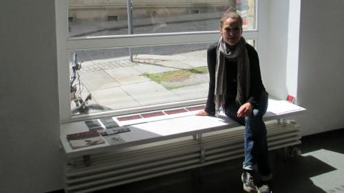 Kerstin Quandt in der Galerie. Mit ihren Mitstreiterinnen veranstaltet sie etwa sieben Ausstellungen pro Jahr.