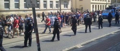 Neonazidemo auf der Großenhainer Straße