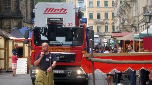 die Feuerwehrrundfahrt verlief ohne größere Probleme