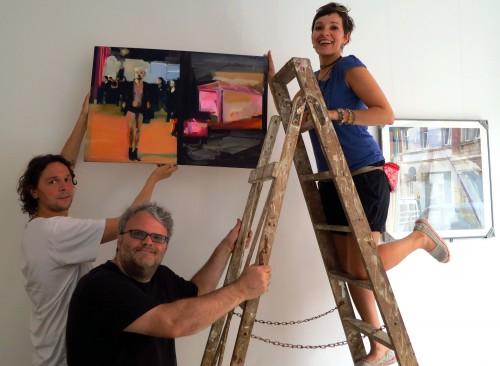 Ulrich Hübner, Mario Pitz und Peggy Berger