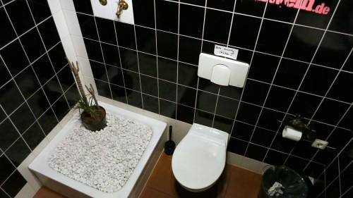 stylische Unisex-Toilette