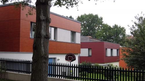 Moderne Würfelhäuser an der Arno-Holz-Allee