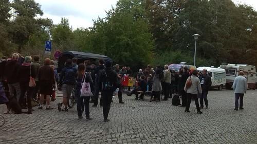 Freiraum-Demonstration zum Landgericht