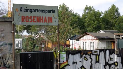 "Gartensparte an Gartensparte - diese heißt: ""Rosenhain"""