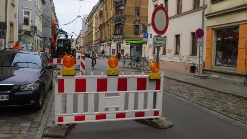 Baustelle an der Kamenzer Straße