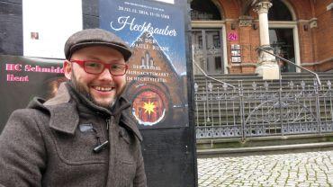 Maik Schellbach vom Hechtviertel-Verein lädt zum Hechtzauber