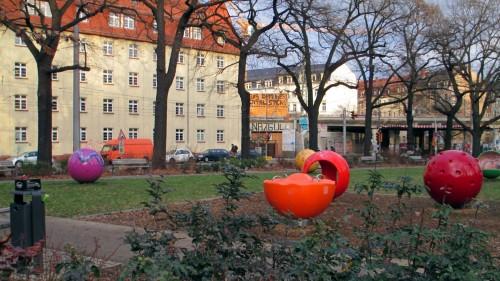 """Der neu gestaltete Bischofsplatz hat jetzt """"Aufenthaltsqualität""""."""