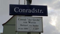 Conrad, eigentlich Konrad I., reitet im Fürstenzug in der Altstadt mit.