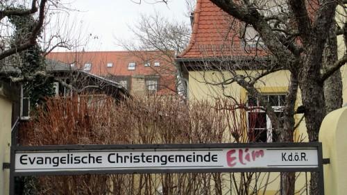 Die Gemeinde Elim hat ihren Sitz im ehemaligen Prießnitzbad