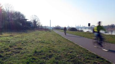 Dieses Stück Elberadweg will die Investorin sperren bzw. wegbaggern lassen.