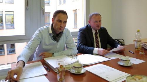 CDU-Pressesprecher Patrick Schreiber und Stadtrat Gunther Thiele