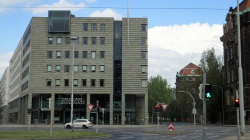 """Das """"Forum am Carolaplatz"""", ehemaliger Sitznachbar des """"Blauen Hauses"""" der Pädagogischen Hochschule"""