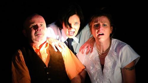 Mörderspiele: Frank Bendas, Sarah Bauer, Carola Pohlan - Foto: PR/Pauliruine