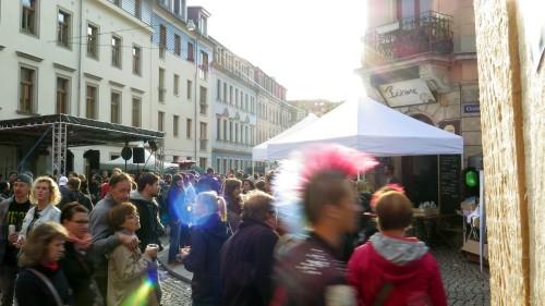 BRN-Sommernachmittag auf der Görlitzer Straße.