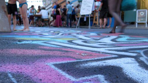 Street-Art mit Kreide